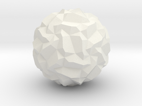 Stellated Pentagonal Hexecontahedron in White Natural Versatile Plastic
