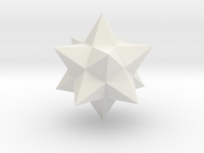 Small stellated dodecahedron in White Natural Versatile Plastic