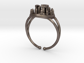 Stone Circle Ring in Stainless Steel