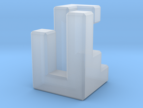 Triaxial piece (2cm) in Smooth Fine Detail Plastic