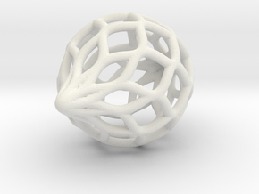 Netted Ornament in White Natural Versatile Plastic