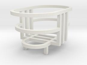 Simple Gift Box in White Natural Versatile Plastic