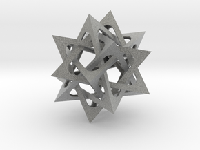 Five Tetrahedra in Metallic Plastic