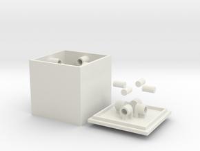 CentripetalBox in White Natural Versatile Plastic