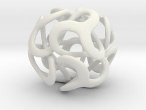 snakeball in White Natural Versatile Plastic