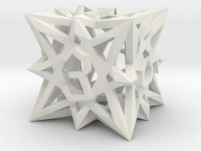 Arcane D6 in White Natural Versatile Plastic