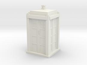 Tardis mini in White Natural Versatile Plastic