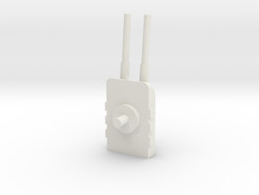 Turret 1 in White Natural Versatile Plastic