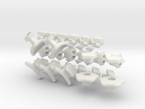x10 Tiled Mini Gigaminx in White Natural Versatile Plastic