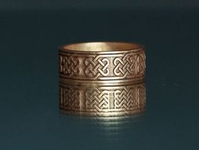 Celtic Ring in Polished Bronze
