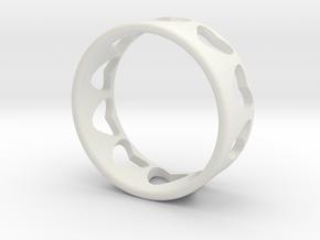 heart ring in White Natural Versatile Plastic