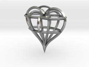 Heart of love in Natural Silver