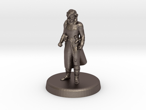 Crumpleface Jack (Human Rogue) in Polished Bronzed Silver Steel