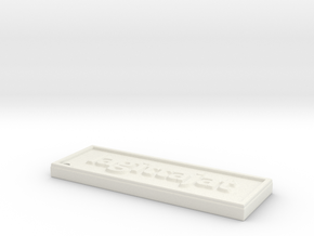 avaimenpera in White Natural Versatile Plastic