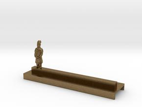 Porte Couteau Soldat 2 Xian in Natural Bronze