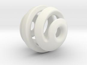 sphere spiral pendant in White Natural Versatile Plastic