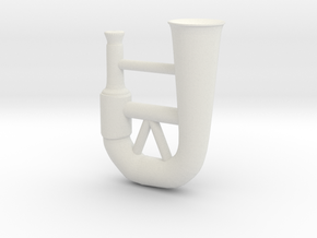 Horn in White Natural Versatile Plastic