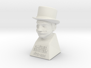 "2"" Alfred Einstein in White Natural Versatile Plastic"