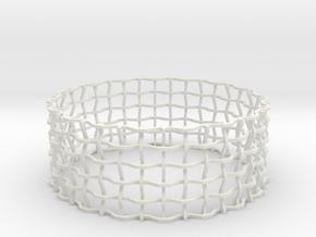 Expandabracelet in White Natural Versatile Plastic