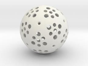 x1 Mini Gigaminx Core in White Natural Versatile Plastic