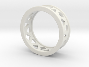Droplet Ring in White Strong & Flexible