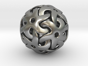 Starball Pendant in Natural Silver