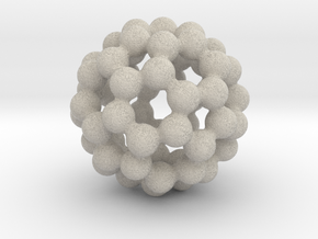C60 - Buckyball - S in Natural Sandstone