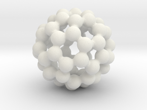 C60 - Buckyball - M in White Natural Versatile Plastic