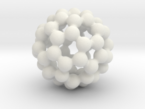 C60 - Buckyball - S in White Strong & Flexible