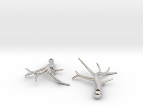 Twiggy Earrings in Platinum: Small