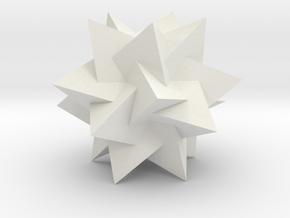 Compound of 5 Tetrahedra in White Natural Versatile Plastic