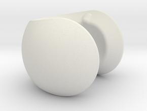 C sphere pendant half a tennis ball in White Strong & Flexible
