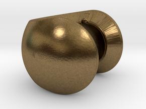 C sphere pendant half a tennis ball in Natural Bronze