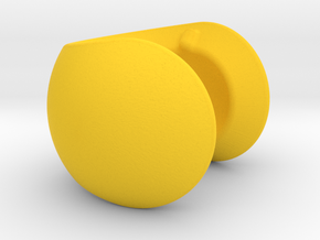 C sphere pendant half a tennis ball in Yellow Processed Versatile Plastic
