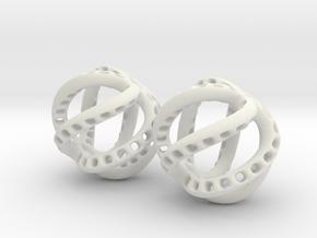 Kraken-Earrings 2 Pieces in White Natural Versatile Plastic