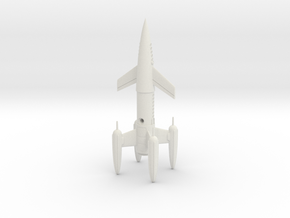 "R-Rocket ""Earth"" Class Medium in White Natural Versatile Plastic"