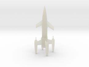"R-Rocket ""Earth"" Class Medium in Transparent Acrylic"