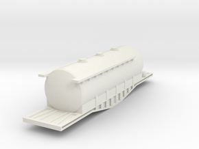 N Scale Irish Bogie Cement Tank in White Natural Versatile Plastic
