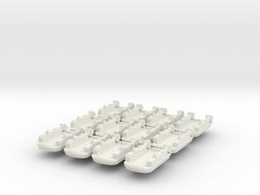 9 LCAC x12 in White Natural Versatile Plastic