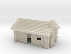 Log Cabin 1 - Zscale in White Acrylic