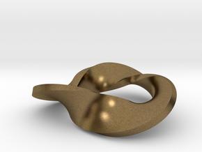 Trefoil moebius - pendant in Natural Bronze