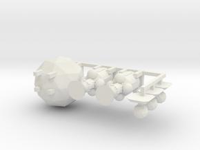 Modules 4: Engines, Sensors, Hab Pod in White Natural Versatile Plastic