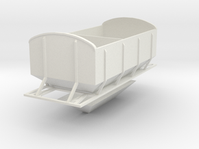 (SHORT)CIE Ballast Hopper OO Gauge in White Natural Versatile Plastic