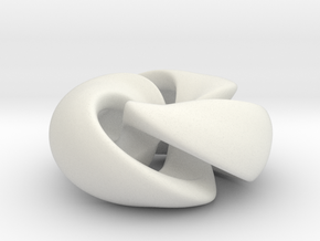 Twisted Knot in White Natural Versatile Plastic