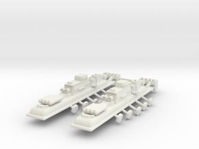 9 Air Frigate x2 in White Natural Versatile Plastic