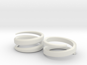 (Fe)Male ring in White Natural Versatile Plastic