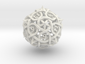 Thorn d20 in White Natural Versatile Plastic