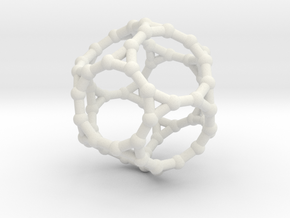 Truncated dodecahedron in White Natural Versatile Plastic