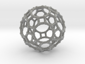 Truncated icosidodecahedron in Metallic Plastic