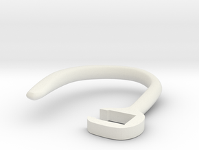 Hearhook in White Natural Versatile Plastic